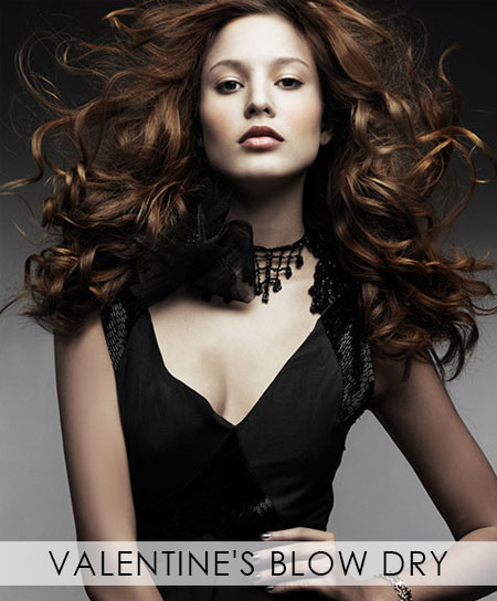 Valentine's-Blow-Dry, Covent Garden hair & beauty salon