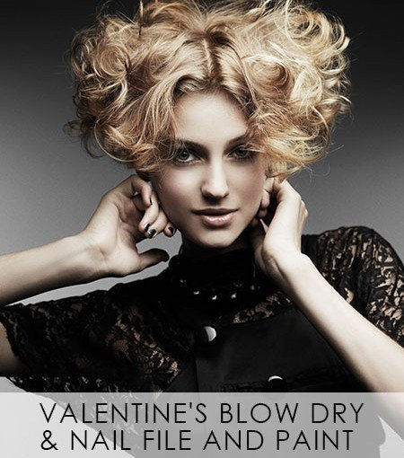 Valentine's-Blow-Dry-&-Nail-File-and-Paint offer, Covent Garden hair & beauty salon