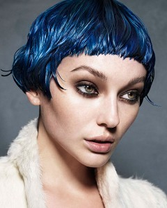denim blue hair colour,karine jackson hair salon, covent garden