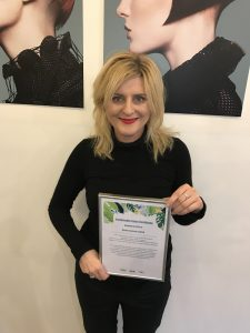 karine jackson hair & beauty salon, covent garden, wins sustainable salon award in London