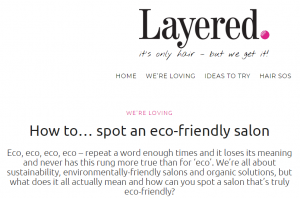 Your Eco-Friendly Hair Salon in London!